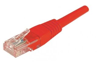 CABLE RJ45 U/UTP CAT5e Rouge - 0,50 M