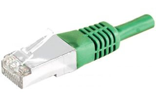 CABLE RJ45 F/UTP CAT5e Vert - 0,30 M