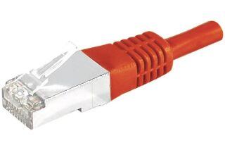 Câble RJ45 CAT6 S/FTP premium Rouge - 0,15 M