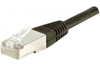 Câble RJ45 CAT6 S/FTP premium Noir - 0,30 M