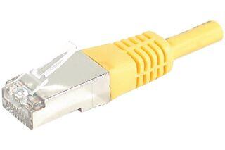 Câble RJ45 CAT6 S/FTP premium Jaune - 0,70 M