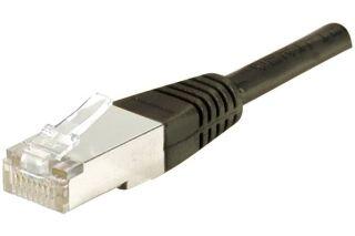 Câble RJ45 CAT6 S/FTP premium Noir - 0,70 M