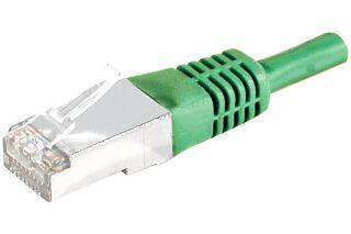CABLE RJ45 S/FTP CAT.6a Vert - 7,50 M