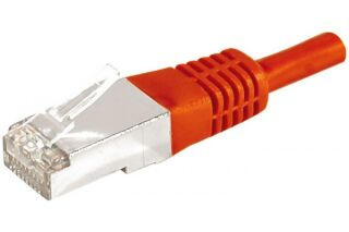 CABLE RJ45 F/UTP CAT.6a DEXLAN Rouge - 0,30 M