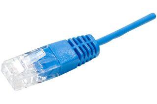 Cordon UTP 1P bleu RJ45/RJ45 Téléphone 100 ohms - 2M