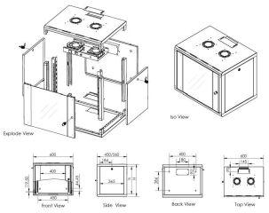 DIGITUS ventilateur de toit pour distributeur mural,