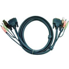 Câble KVM 2L-7D02U - USB/DVI-D/AUDIO 1.8m