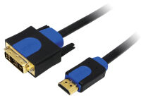 LogiLink Câble HDMI High Speed, HDMI - DVI-D, 3 m