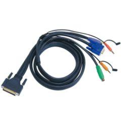 CABLE KVM 2L-1701P - PS2/VGA/AUDIO VERS DB25 1.8M