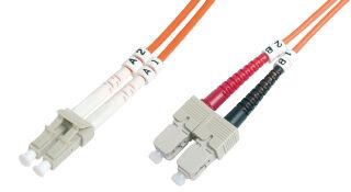 DIGITUS Câble patch à fibres optiques,OM2, LC mâle - SC mâle