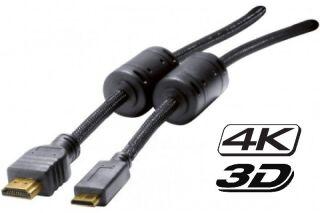 Câble HDMI 1.4 4K 3D HQ vers HDMI mini, Haute définition - 1,50M