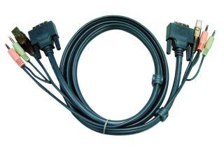 Aten 2L-7D05U cordon KVM DVI/USB/Audio - 5M