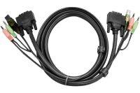 Aten 2L-7D03UI cordon KVM DVI-I/USB/audio - 3,00M