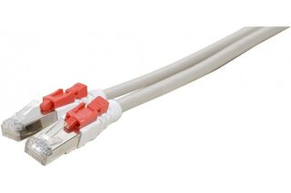 Câble RJ45 CAT6 S/FTP à verrouillage gris - 2 M