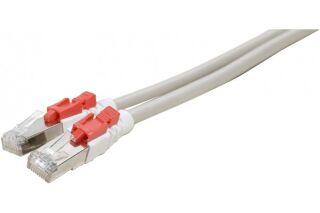 Câble RJ45 CAT6 S/FTP à verrouillage gris - 5 M