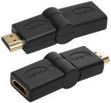 LogiLink Adaptateur HDMI femelle - HDMI mâle, inclinable