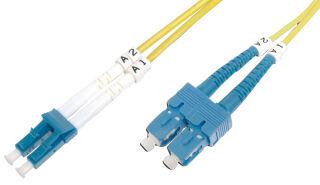 DIGITUS Câble patch à fibres optiques, LC-Duplex - SC-Duplex