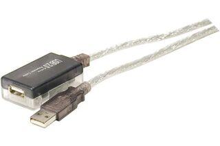 Rallonge amplifiée USB 2.0 12m - Actif jusqu'a 36m