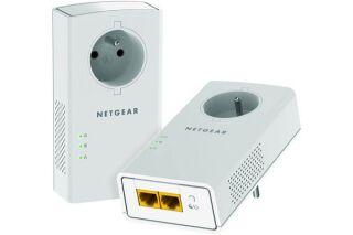 Netgear PLP2000 pack de 2 cpl AV2000 2xRJ45 prise gigogne