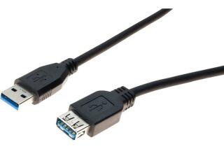 Rallonge USB 3.0 type A / A noire - 3,0 m