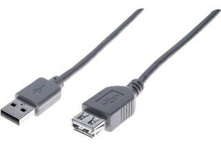 Rallonge éco USB 2.0 A / A grise - 0,6 m