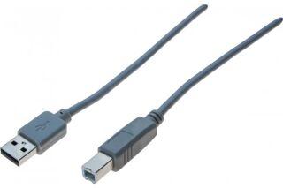Cordon USB 2.0 A / B gris - 5,0 m