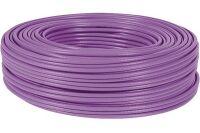 câble monobrin F/FTP CAT6A violet LS0H RPC Dca - 100 m