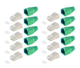 shiverpeaks BASIC-S Kit de fiches RJ45, Cat. 5e - 6, gris
