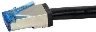 LogiLink Câble patch extérieur, cat. 6A, S/FTP, 1,0 m, noir