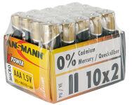 ANSMANN Pile alcaline 'X-Power', Micro AAA, présentoir de 20