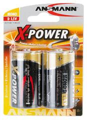 ANSMANN Pile alcaline 'X-Power', Mono D, blister de 2
