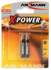ANSMANN Pile alcaline 'X-POWER' AAAA, blister de 2