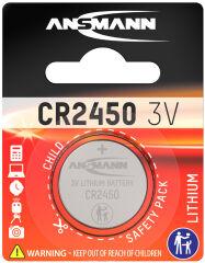 ANSMANN Pile bouton en lithium 'CR2450', 3,0 Volt, blister