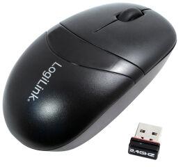LogiLink Mini souris optique sans fil, dongle USB, noir