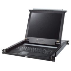 ATEN 19' KVM Konsole mit 43,18 cm (17') LCD-Monitor, schwarz