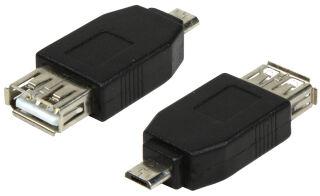 LogiLink Adaptateur USB 2.0, micro USB mâle - USB femelle