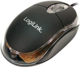 LogiLink Mini souris optique pour notebook, avec fil