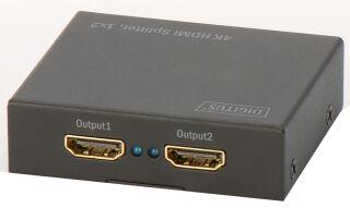 DIGITUS répartiteur 4K HDMI, 2 ports, lecture simultané,noir