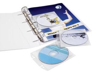 DURABLE Pochette CD/DVD COVER EASY, en PP, transparent