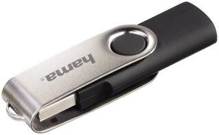 hama Clé USB 2.0 Flash Drive 'Rotate', 128 GB, noir / argent