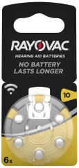 RAYOVAC Piles bouton pour aides auditives 'Acoustic',