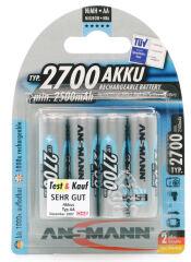 ANSMANN Pile rechargeable NiMH Premium, Mignon AA, 2.700 mAh