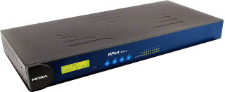 MOXA Industrial Ethernet Serial Device Server 19', 16 ports,