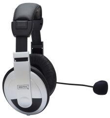 DIGITUS Casque micro Stereo multimedia, noir / argent