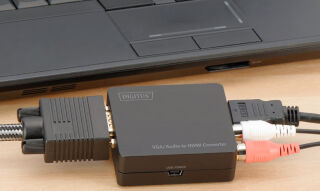 DIGITUS Convertisseur VGA/Audio vers HDMI, couleur: noir