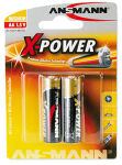 ANSMANN Pile alcaline 'X-Power', Mignon AA, blister de 2