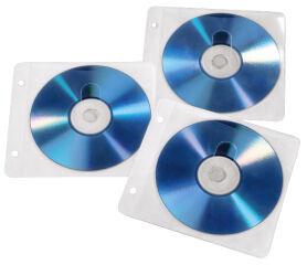 hama Pochette vide pour CD/DVD, Slim Case, transparent/blanc