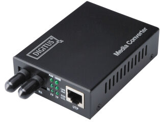 DIGITUS Convertisseur média Fast Ethernet: RJ45/ST, multimo.