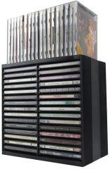 Fellowes Rack CD/DVD Spring, pour 30 CD en boîte Jewel, noir