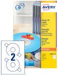 AVERY Etiquette CD, diamètre: 117 mm, blanc brillant